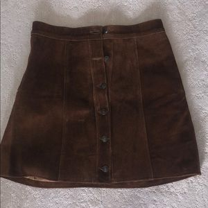 Understated suede leather skirt